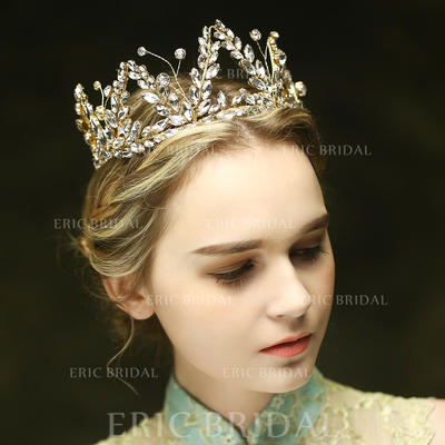 "Tiaras Wedding/Special Occasion/Party/Art photography Crystal/Rhinestone 13.39""(Approx.34cm) 2.76""(Approx.7cm) Headpieces (042156654)"