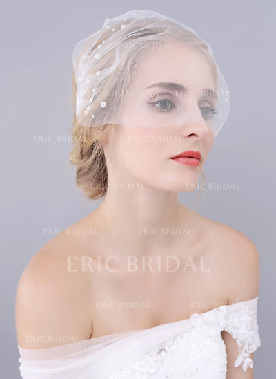 Blusher Veils Tulle One-tier Classic With Cut Edge Wedding Veils (006152014)