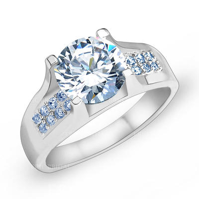 Rings Zircon/Platinum Plated Ladies' Charming Wedding & Party Jewelry (011166719)