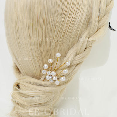 "Hairpins Wedding/Special Occasion/Party Alloy/Imitation Pearls 3.94""(Approx.10cm) 1.38""(Approx.3.5cm) Headpieces (042155280)"
