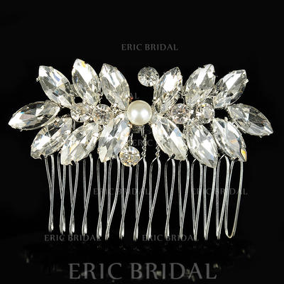 """Combs & Barrettes Wedding/Special Occasion Alloy/Imitation Pearls 2.56""""(Approx.6.5cm) 1.97""""(Approx.5cm) Headpieces (042156333)"""