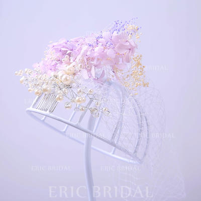 "Combs & Barrettes Wedding/Special Occasion/Party Rhinestone/Tulle 9.84""(Approx.25cm) 7.87""(Approx.20cm) Headpieces (042157393)"