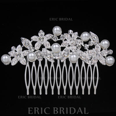 """Combs & Barrettes Wedding/Special Occasion/Party Alloy 3.74""""(Approx.9.5cm) 2.36""""(Approx.6cm) Headpieces (042156876)"""