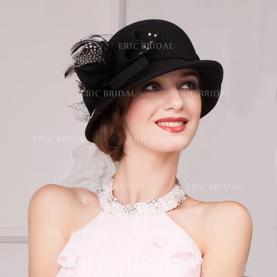 Wool Bowler/Cloche Hat Charming Ladies' Hats (196193740)