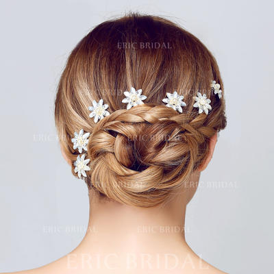 """Hairpins Wedding/Special Occasion/Casual/Art photography Rhinestone/Alloy 2.95""""(Approx.7.5cm) 1.38""""(Approx.3.5cm) Headpieces (042156201)"""