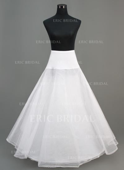 Petticoats Ankle-length Nylon/Tulle Netting A-Line Slip/Full Gown Slip 2 Tiers Petticoats (037190674)