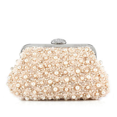 Clutches Wedding/Ceremony & Party Satin Clip Closure Charming Clutches & Evening Bags (012185273)