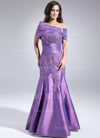 Trumpet/Mermaid Sweetheart Floor-Length Mother of the Bride Dresses With Lace Beading Sequins (008005998)