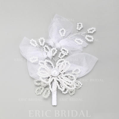 "Hairpins Wedding/Special Occasion Imitation Pearls/Lace 5.71""(Approx.14.5cm) 4.33""(Approx.11cm) Headpieces (042156745)"