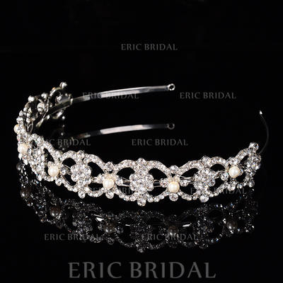 """Tiaras Wedding/Special Occasion/Party Rhinestone/Alloy 1.18""""(Approx.3cm) 6.3""""(Approx.16cm) Headpieces (042157346)"""