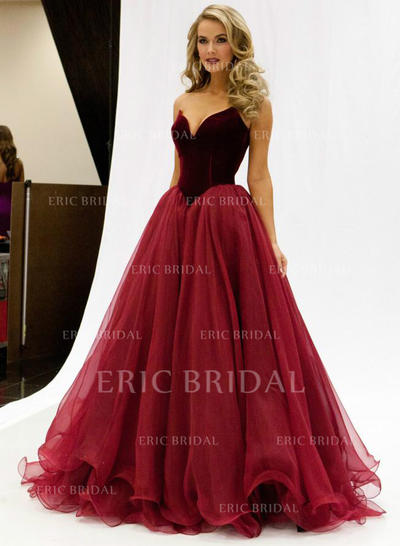 A-Line/Princess Sweetheart Floor-Length Prom Dresses (018147003)