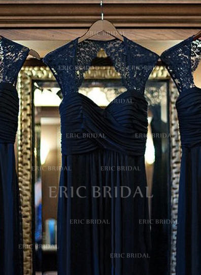 A-Line/Princess Sweetheart Floor-Length Bridesmaid Dresses With Ruffle Lace (007144973)