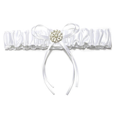 Garters Bridal Wedding/Special Occasion Satin With Ribbons/Rhinestone Garter (104196031)