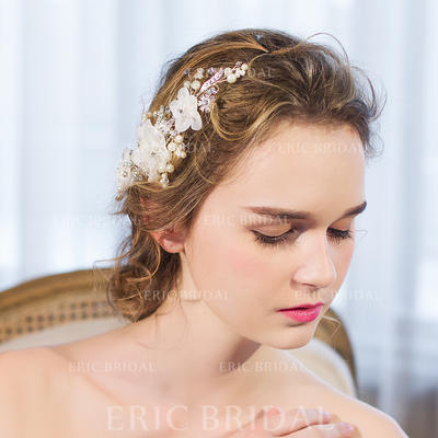 """Combs & Barrettes/Flowers & Feathers Wedding/Special Occasion/Party/Art photography Rhinestone/Imitation Pearls 8.66""""(Approx.22cm) 2.36""""(Approx.6cm) Headpieces (042156659)"""