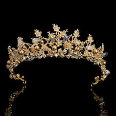 Senhoras Exquisite Strass Diademas com Strass