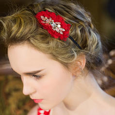 "Flowers & Feathers/Headbands Wedding/Special Occasion/Casual/Party Crystal/Rhinestone 3.54""(Approx.9cm) 1.77""(Approx.4.5cm) Headpieces"