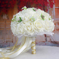 "Bridal Bouquets/Bridesmaid Bouquets Wedding Satin 12.99""(Approx.33cm) Wedding Flowers"