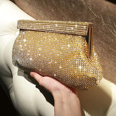 "Clutches/Satchel Ceremony & Party Crystal/ Rhinestone Shining 10.24""(Approx.26cm) Clutches & Evening Bags"
