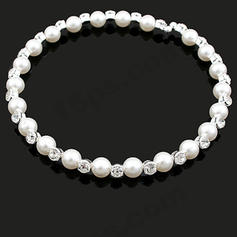 Necklaces Alloy/Pearl Rhinestone No Clasp Beautiful Wedding & Party Jewelry