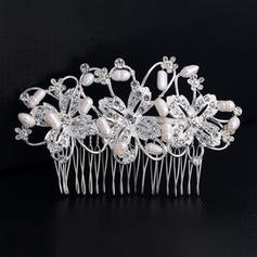 """Combs & Barrettes Wedding/Special Occasion Rhinestone/Alloy 4.33""""(Approx.11cm) 2.67""""(Approx.6.8cm) Headpieces"""