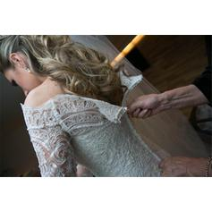 black wedding dresses with lace sleeves