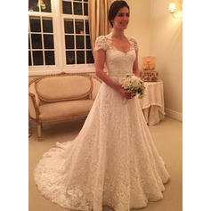 Ball-Gown Sweetheart Court Train Wedding Dresses