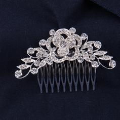 "Combs & Barrettes Wedding/Special Occasion/Casual Rhinestone/Alloy 3.54""(Approx.9cm) Glamourous Headpieces"