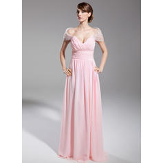 plus size evening dresses with sleeves v-neck