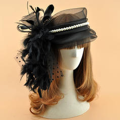 Organza With Feather/Imitation Pearls Fascinators Vintage Ladies' Hats