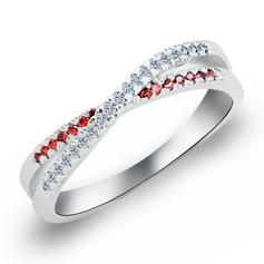 Rings Copper/Zircon/Platinum Plated Ladies' Charming Wedding & Party Jewelry