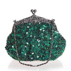Clutches/Wristlets/Totes/Bridal Purse/Fashion Handbags/Makeup Bags/Luxury Clutches Wedding/Ceremony & Party/Casual & Shopping/Office & Career Sequin Snap Closure Elegant Clutches & Evening Bags