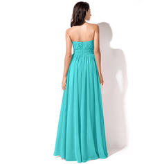 two different colored bridesmaid dresses