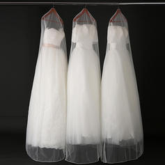 Garment Bags Gown Length Tulle White Simple Wedding Garment Bag