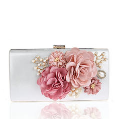 Clutches/Wristlets/Totes/Fashion Handbags/Makeup Bags/Luxury Clutches Wedding/Ceremony & Party/Casual & Shopping/Office & Career Satin Snap Closure Elegant Clutches & Evening Bags