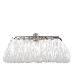 Clutches Wedding/Ceremony & Party Silk Clip Closure Gorgeous Clutches & Evening Bags