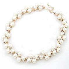Necklaces Alloy/Pearl Rhinestone Lobster Clasp Ladies' Wedding & Party Jewelry