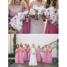 A-Line/Princess Sweetheart Floor-Length Bridesmaid Dresses With Ruffle (007144969)