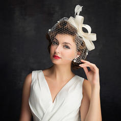 Batiste/Feather/Tulle avec Feather Chapeaux de type fascinator Simple Dames Chapeau