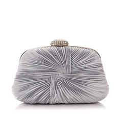 Clutches Ceremony & Party Suede Magnetic Closure Elegant Clutches & Evening Bags