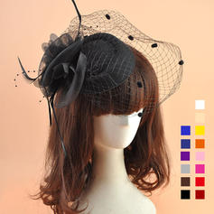 Organza With Feather Fascinators Beautiful Ladies' Hats