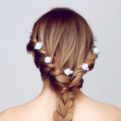 """Hairpins Wedding/Outdoor/Party/Art photography Alloy/Fabric 3.15""""(Approx.8cm) 0.98""""(Approx.2.5cm) Headpieces"""