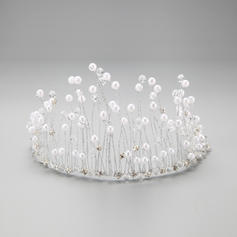 "Tiaras/Headbands Party Rhinestone/Alloy/Imitation Pearls 10.63""(Approx.27cm) 3.35""(Approx.8.5cm) Headpieces"