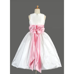 pink flower girl dresses v neck