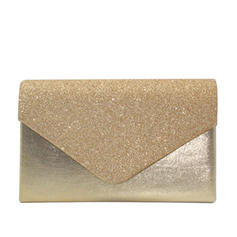 Clutches/Luxury Clutches Wedding/Ceremony & Party/Casual & Shopping/Office & Career Velvet/Sequin/Sparkling Glitter Snap Closure Elegant Clutches & Evening Bags