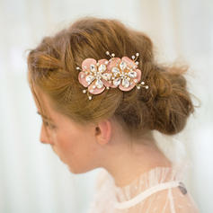 """Combs & Barrettes Wedding/Special Occasion/Party/Carnival Rhinestone/Satin 3.94""""(Approx.10cm) 1.77""""(Approx.4.5cm) Headpieces"""