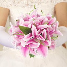 "Bridal Bouquets/Bridesmaid Bouquets Hand-tied Wedding/Party/Casual Artificial Silk 9.45""(Approx.24cm) Wedding Flowers"