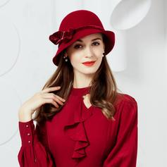 Wool With Bowknot Bowler/Cloche Hat 53-58 Hats