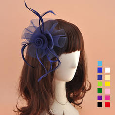 Organza avec Feather Chapeaux de type fascinator Charmant Dames Chapeau