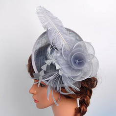 Cotton With Feather/Silk Flower/Tulle Fascinators Beautiful/Elegant Ladies' Hats
