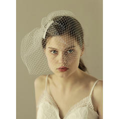 Blusher Veils Tulle With Cut Edge 11.81 in (30cm) White Wedding Veils